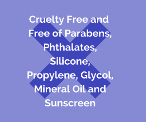 Free of parabens, ptalates and harmful chemicals