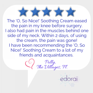 """O, So Nice!"" Soothing Cream—delightful relief for aches and pains"