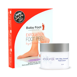 Edorai Soft, Silky Foot Cream and Baby Foot Bundle